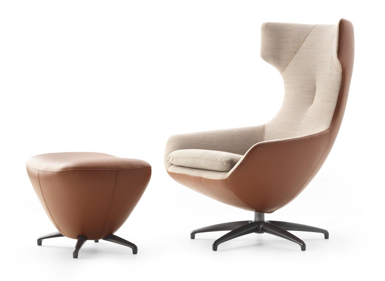 Polstermöbel Leolux caruzzo leather fabric beige brown 0009