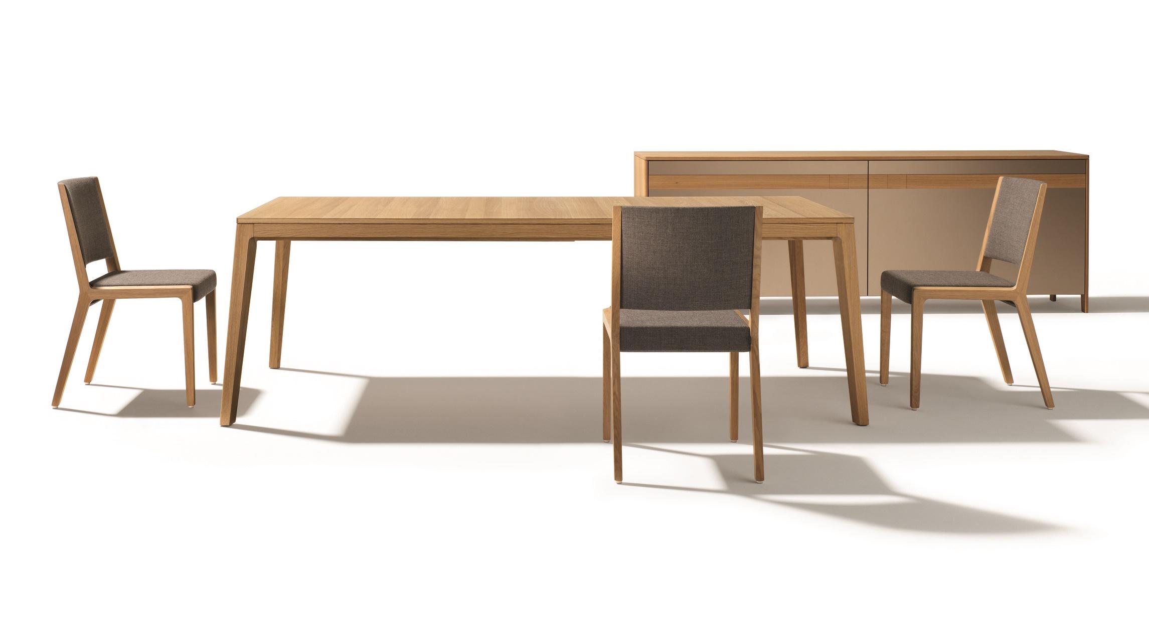 Speisen TEAM 7 mylon Tisch EI Stühle+Sidebord 17